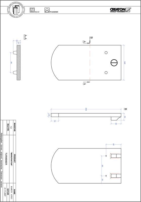 Product CAD file MANUFAKTUR segmented cut TURMBIBER