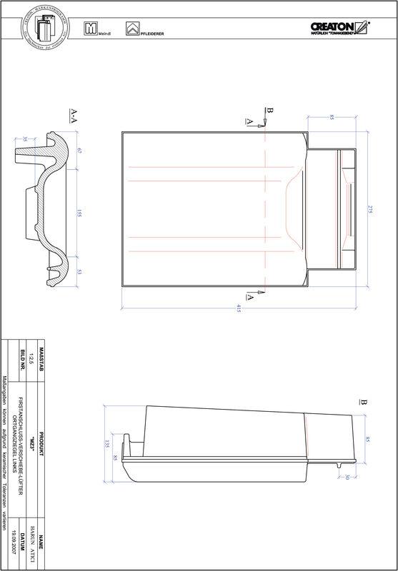 Product CAD file MZ3 adjustment range, verge left VSBOGL