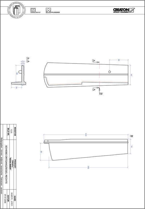 Product CAD file PROFIL segmented cut KERA-SAECHS-18-CM-OGR