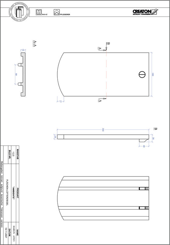Product CAD file AMBIENTE segmented cut SEG-FLUEFTZ