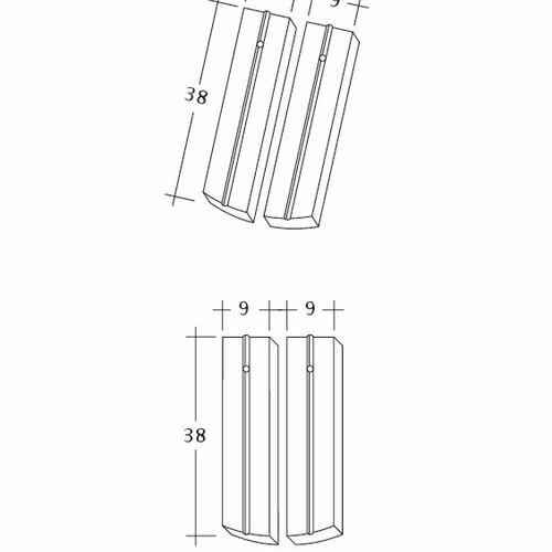 Product technical drawing PROFIL Kera-Saechs-18cm-1-2