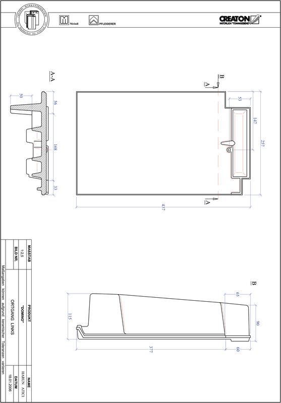 Product CAD file DOMINO verge left OGL