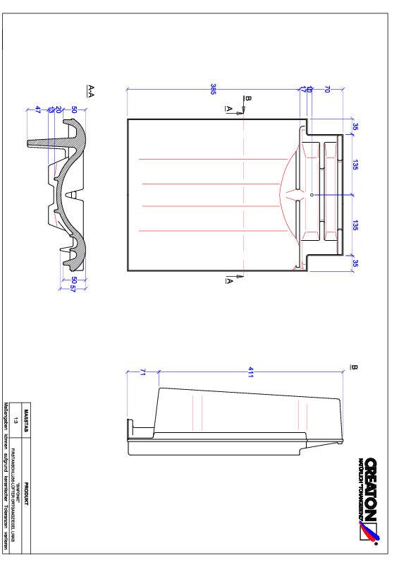 Product CAD file SINFONIE ridge connection ventilator verge left FALOGL