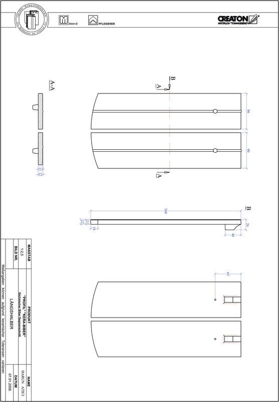 Product CAD file PROFIL segmented cut KERA-SAECHS-18-CM-LH