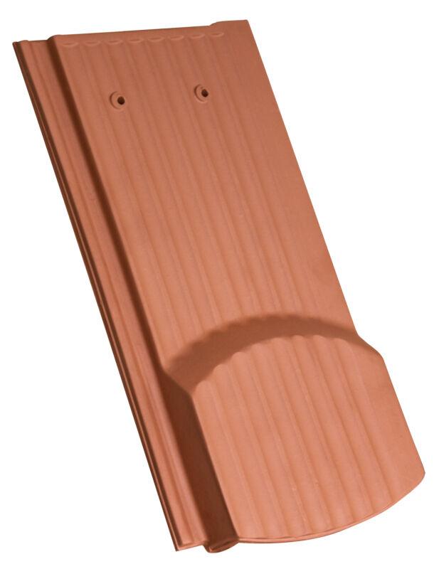 Side interlock tile, ridged surface segmented cut ventilating tile