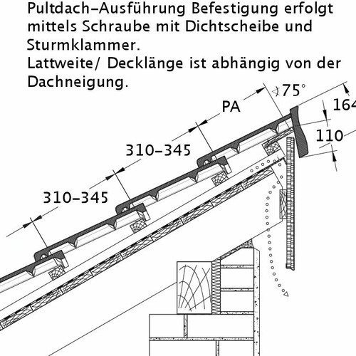 Product technical drawing HEIDELBERG PDA PROFILIERTE-BDS