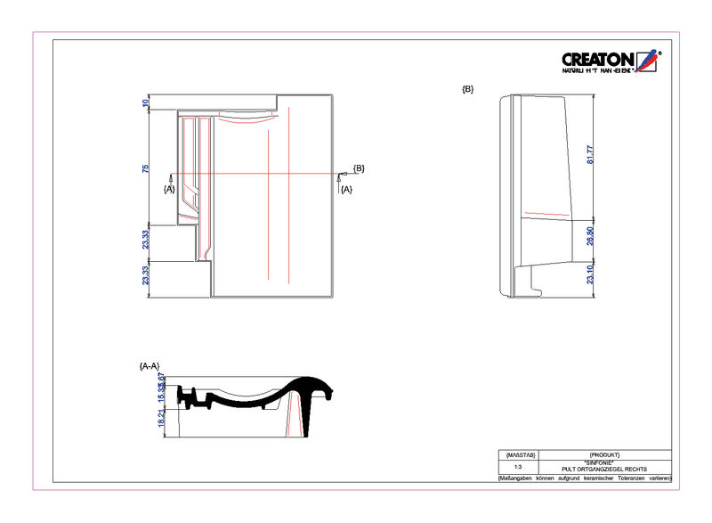 Product CAD file SINFONIE shed roof tile verge right PULTOGR
