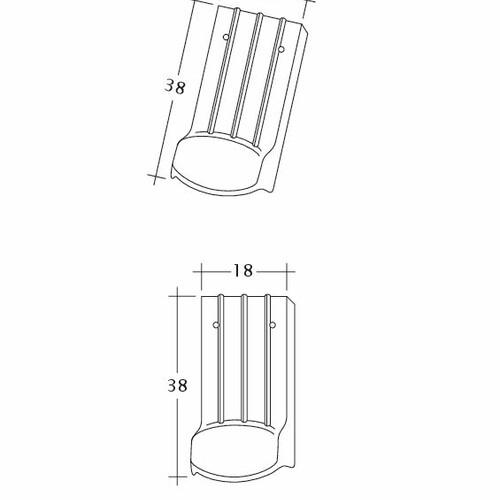 Product technical drawing PROFIL Kera-Saechs-18cm-LUEFTZ