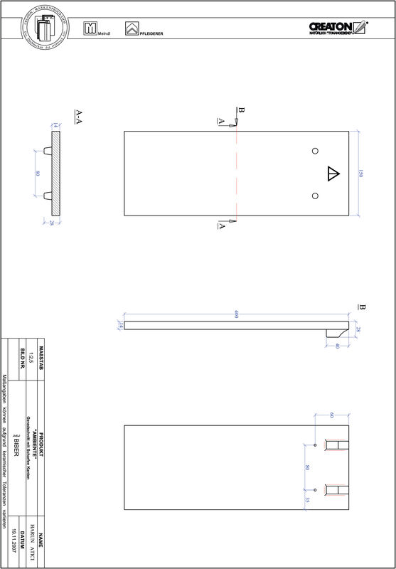 Product CAD file AMBIENTE straight cut GER-3-4