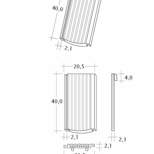 Product technical drawing PROFIL Strangfalz-gewellt-1-1