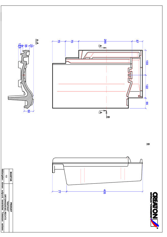 Product CAD file SINFONIE verge right OGR