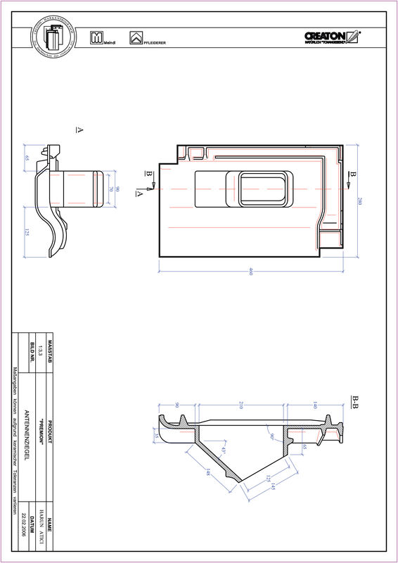 Product CAD file PREMION Aerial ANTENNE