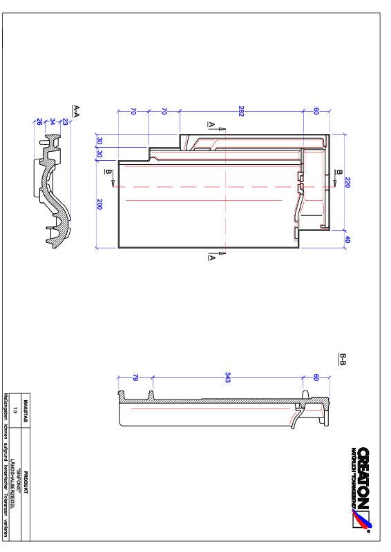 Product CAD file SINFONIE half-width tile LH