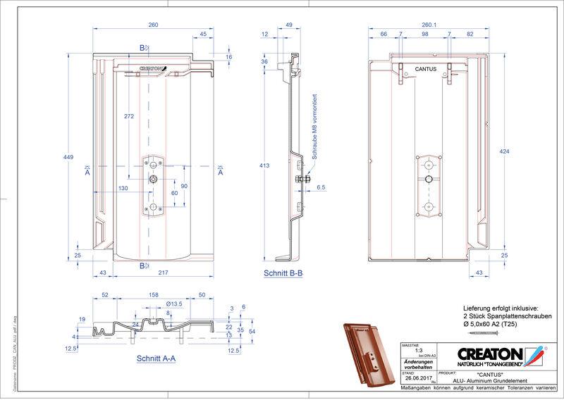 Product CAD file CANTUS base, aluminium GRUNDALU