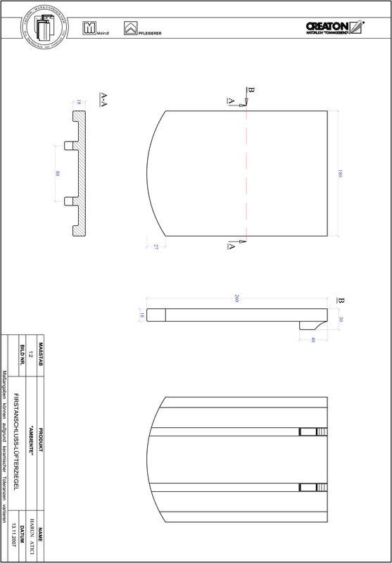 Product CAD file AMBIENTE segmented cut SEG-FALZ