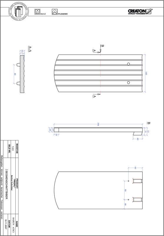 Product CAD file PROFIL segmented cut BKBI-1-1