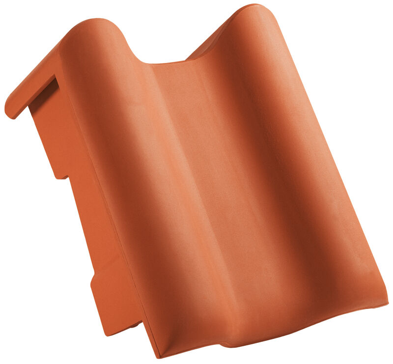 PRE shed roof verge tile decorated standard right