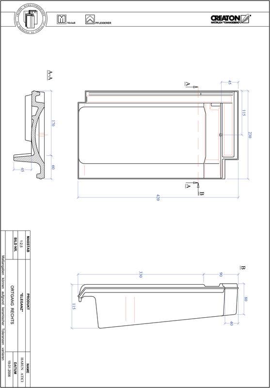 Product CAD file ELEGANZ verge right OGR