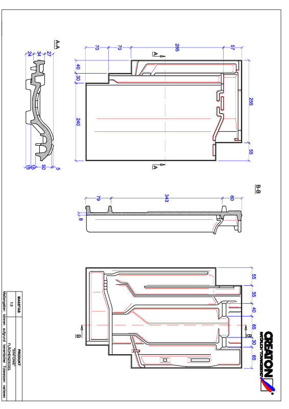 Product CAD file SINFONIE field FLA
