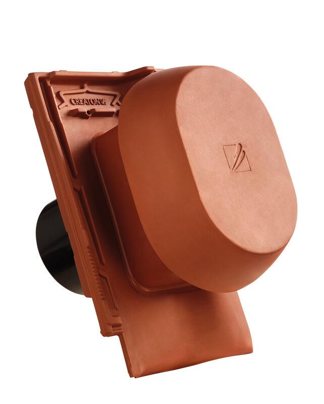 MZ3 NEU SIGNUM ceramic vapour vent DN 150/160 mm incl. sub-roof connection adapter