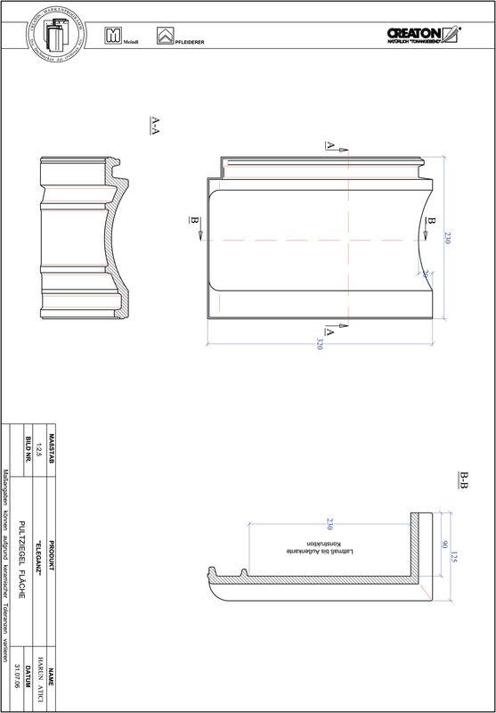 Product CAD file ELEGANZ shed roof tile field PULTFLA