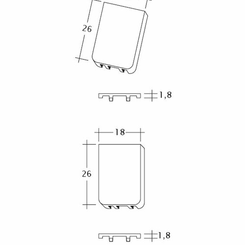 Product technical drawing AMBIENTE Seg-Trauf-LUEFTZ