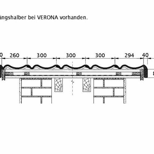 Product technical drawing VERONA ORL PROFILIERTE-BDS