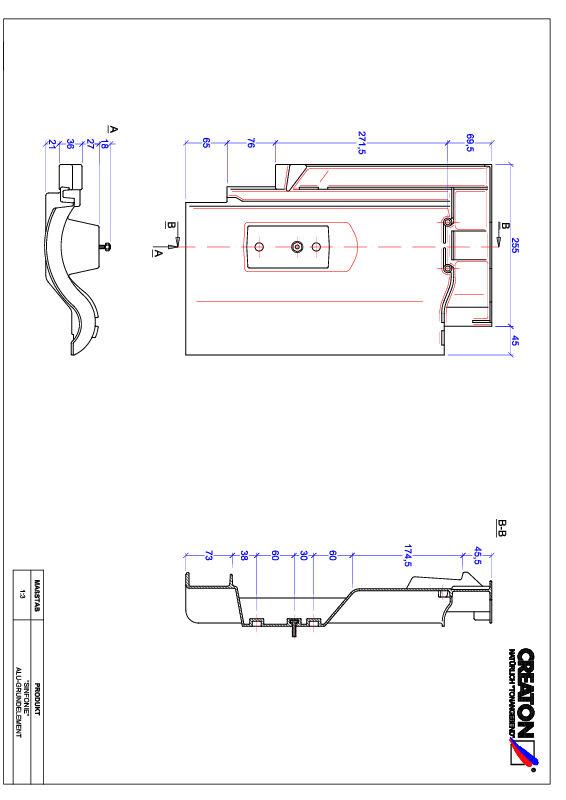 Product CAD file SINFONIE base, aluminium GRUNDALU