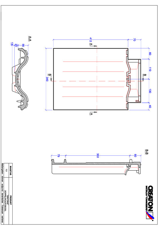Product CAD file SINFONIE double roll tile DWZ