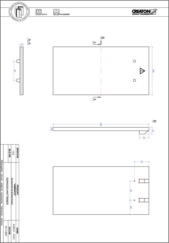 Product CAD file AMBIENTE straight cut GER-SCHARFE-KANTE