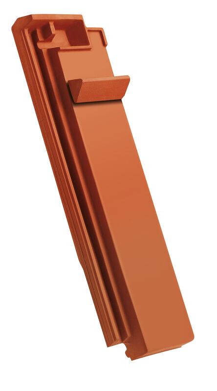 DOM ridge connection ventilating half-width tile