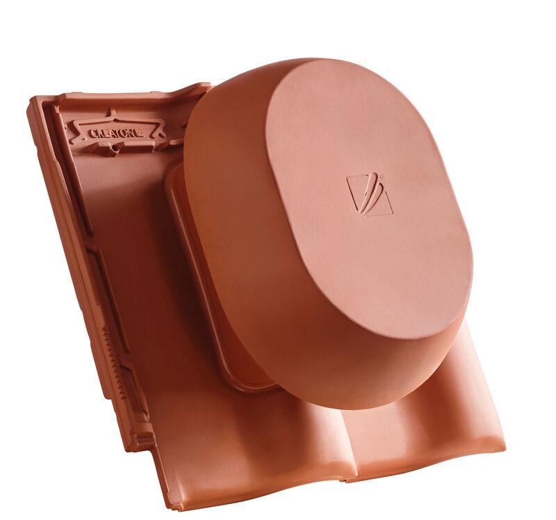 MZ3 NEU SIGNUM ceramic vapour vent DN 200 mm, incl. sub-roof connection adapter