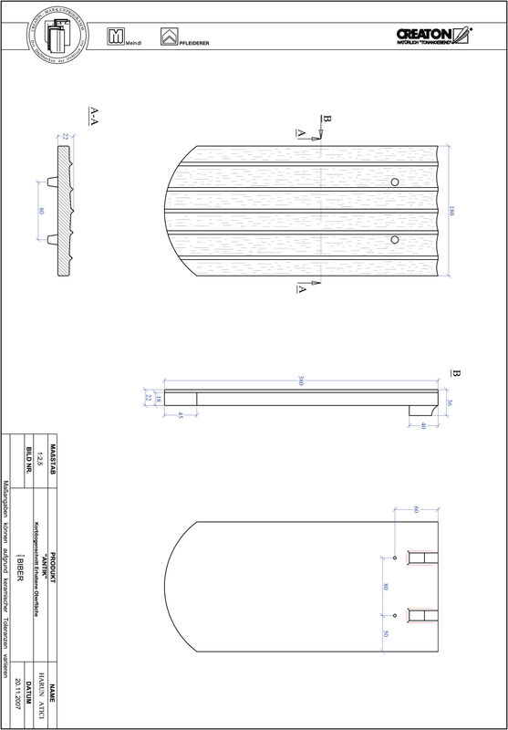 Product CAD file ANTIK elliptical cut KORB-ERHO