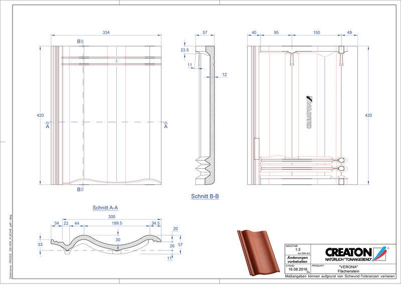 Product CAD file VERONA field Flaechenstein
