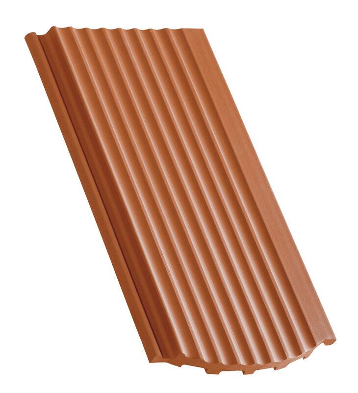 Side interlock tile, ridged surface segmented cut field ventilating tile