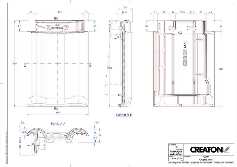 Product CAD file MZ3 NEU verge left OGL