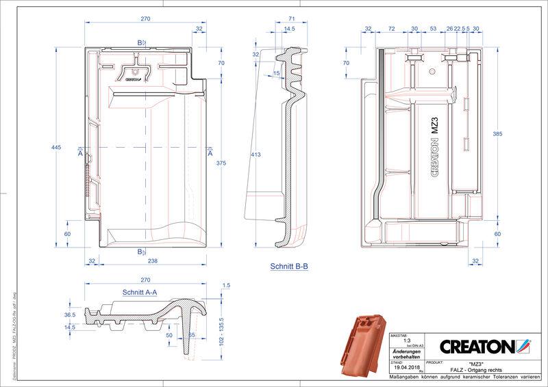 Product CAD file MZ3 NEU ridge connection ventilator verge right FALOGR