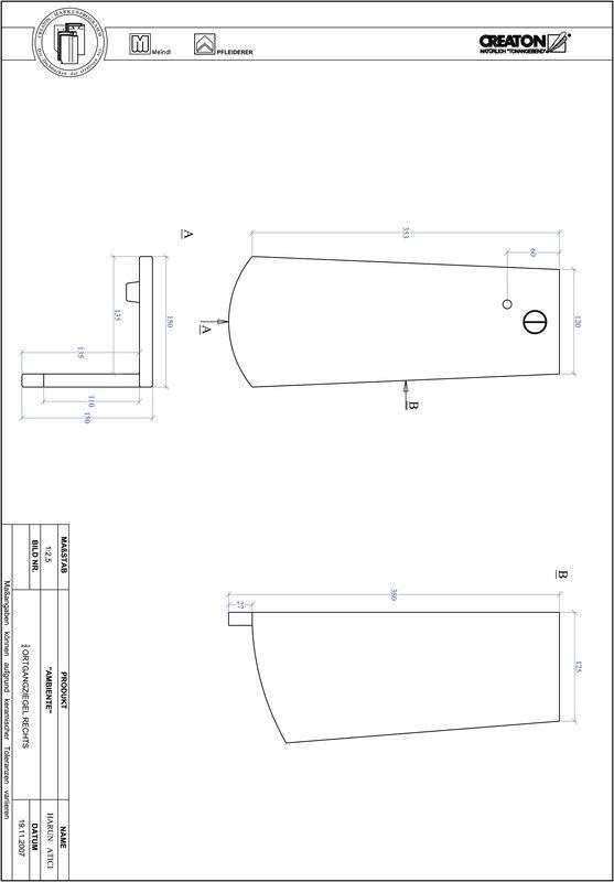 Product CAD file AMBIENTE segmented cut SEG-OGR-3-4