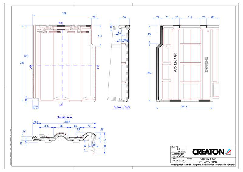 Produkt CAD-Datei MAXIMA PRO Ortgang rechts OGR