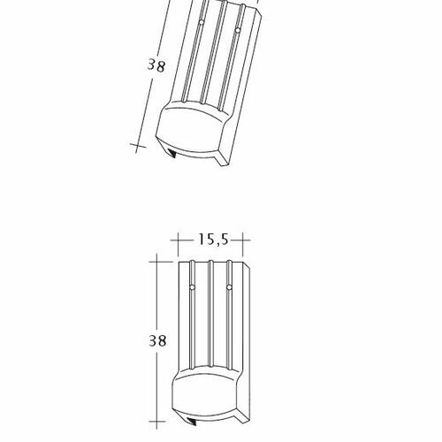 Product technical drawing PROFIL Kera-Saechs-15cm-LUEFTZ