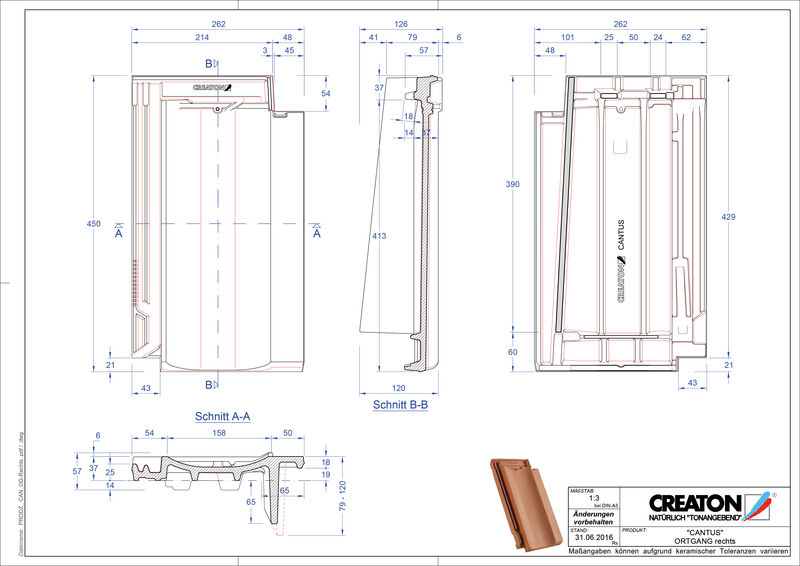 Product CAD file CANTUS verge right OGR