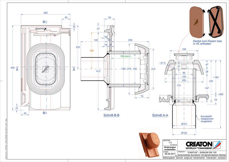 Product CAD file CANTUS Signum 125