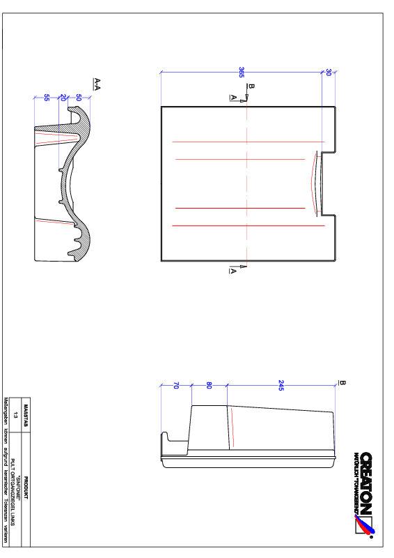Product CAD file SINFONIE shed roof tile verge left PULTOGL