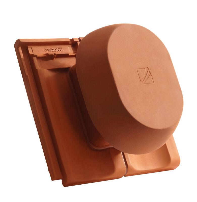 ELE SIGNUM ceramic vapour vent DN 200 mm, incl. sub-roof connection adapter