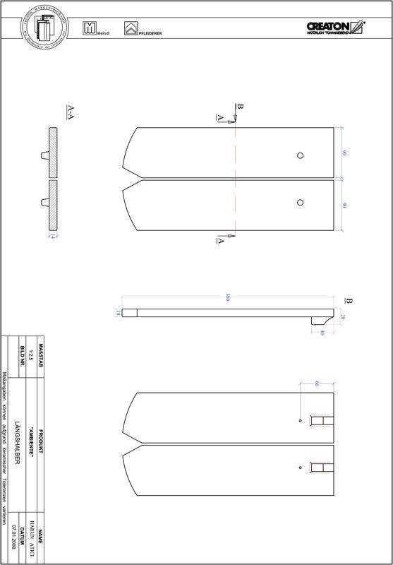 Product CAD file AMBIENTE segmented cut SEG-LH