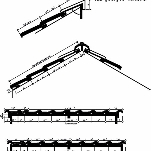 Product technical drawing HARMONIE Switzerland HARMONIE