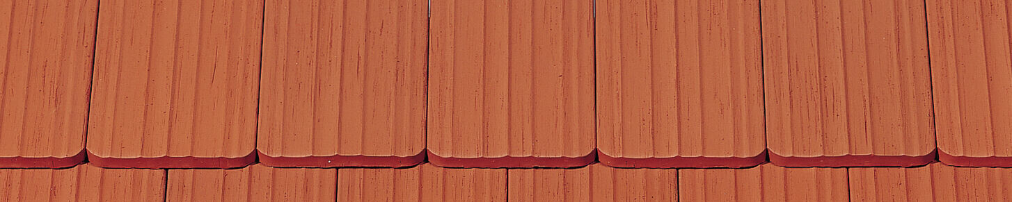 """""""ANTIK"""" straight cut rounded corner natural red raised surface brushed natural red"""
