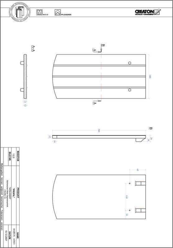 Product CAD file PROFIL segmented cut KERA-SAECHS-18-CM-1-1