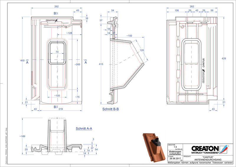 Product CAD file CANTUS Aerial ANTENNE