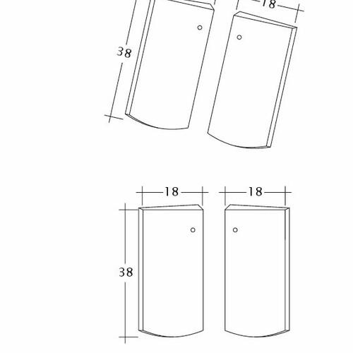 Product technical drawing PROFIL Kera-Saechs-18cm-Unterlaeufer